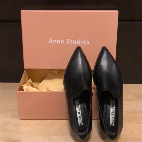 bb892bb340a Acne Women s Jaycee Lamb Leather Loafer Shoes